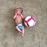 Baby vs. soccer ball.