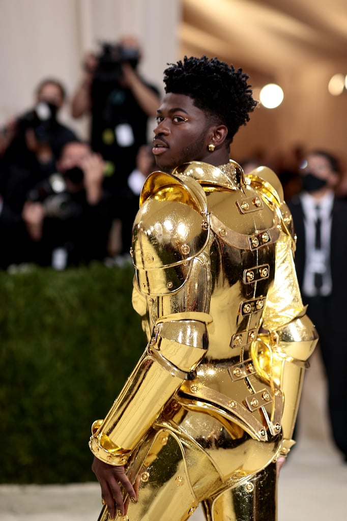 Lil Nas X Wears 3 Gold Versace Outfits at the 2021 Met Gala