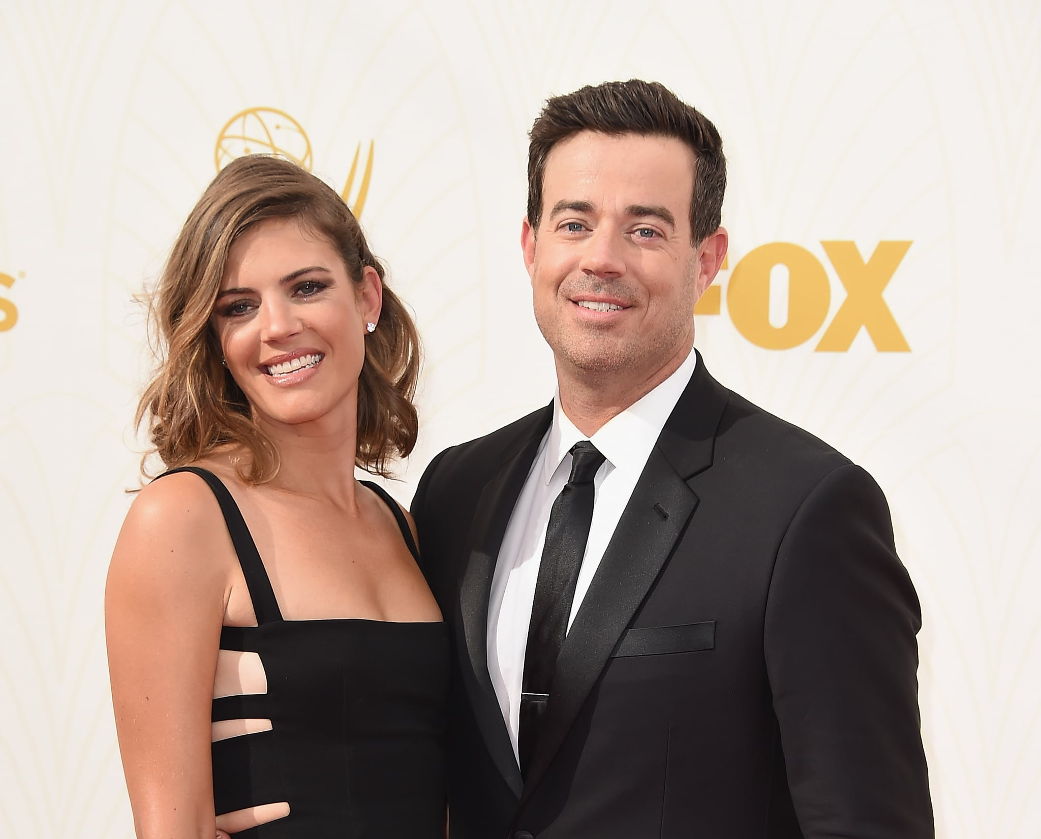 LOS ANGELES, CA - SEPTEMBER 20:  Siri Pinter (L) and TV personality Carson Daly attend the 67th Annual Primetime Emmy Awards at Microsoft Theatre on September 20, 2015 in Los Angeles, California.  (Photo by Steve Granitz/WireImage)