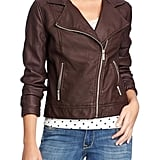 Is your wardrobe missing a wear-with-anything moto jacket? This Old Navy steal ($50) lets you try the trend without shelling out a ton of cash.