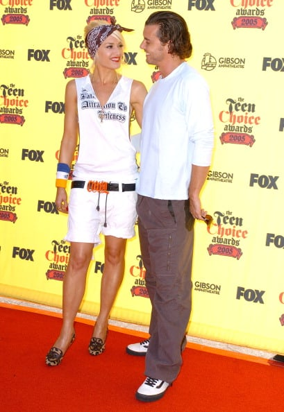 Gwen Stefani and Gavin Rossdale couldn't keep their eyes off each other at LA's Teen Choice Awards in August 2005.