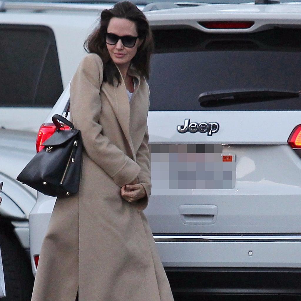 Angelina Jolie's Camel Coat