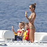 Nicole Richie enjoyed popsicles with her children.