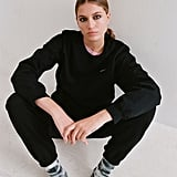 Iets Frans… Embroidered Fleece Crew Neck Sweatshirt and Jogger Pant