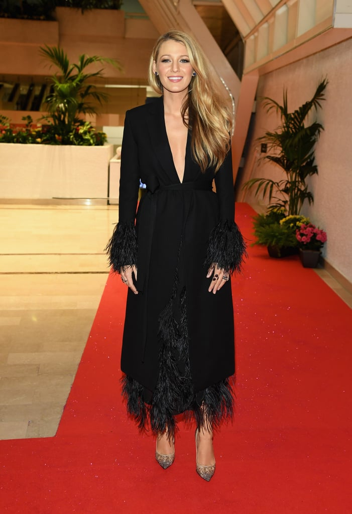 Blake Lively's Feathered Jacket at Cannes