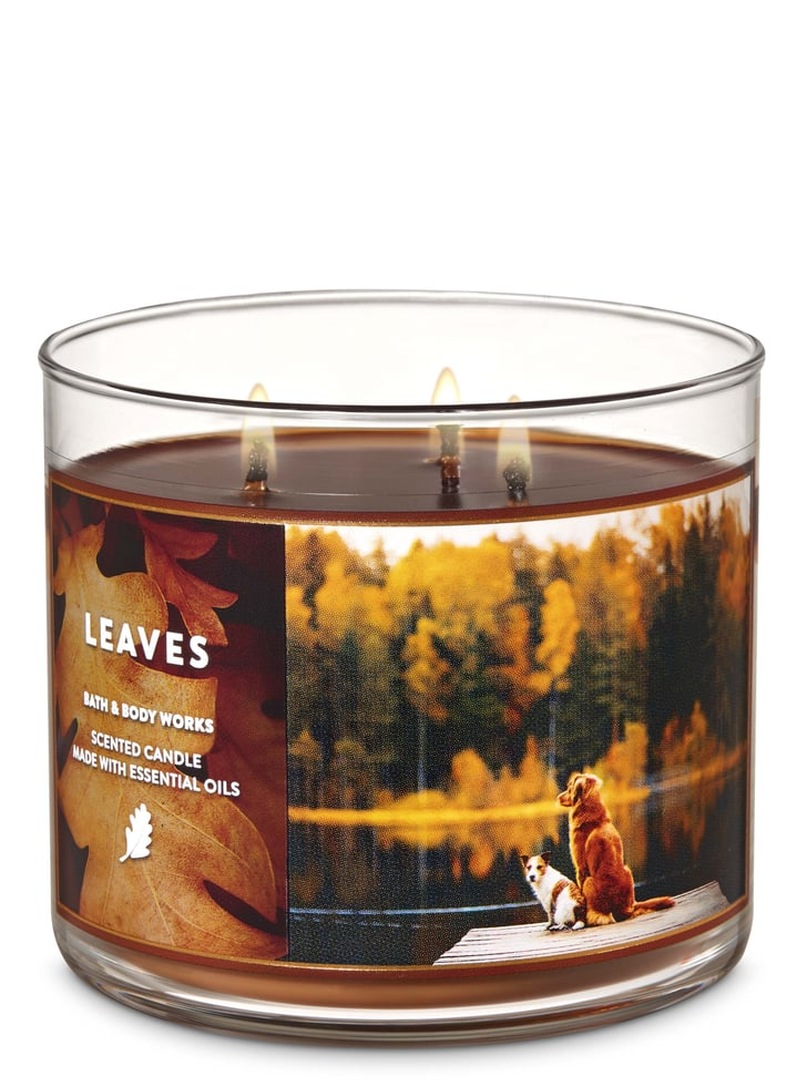 Bath And Body Works Leaves 3 Wick Candle Fall Bath And