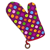 Purple With Dots Oven Mitt For the Left Hand