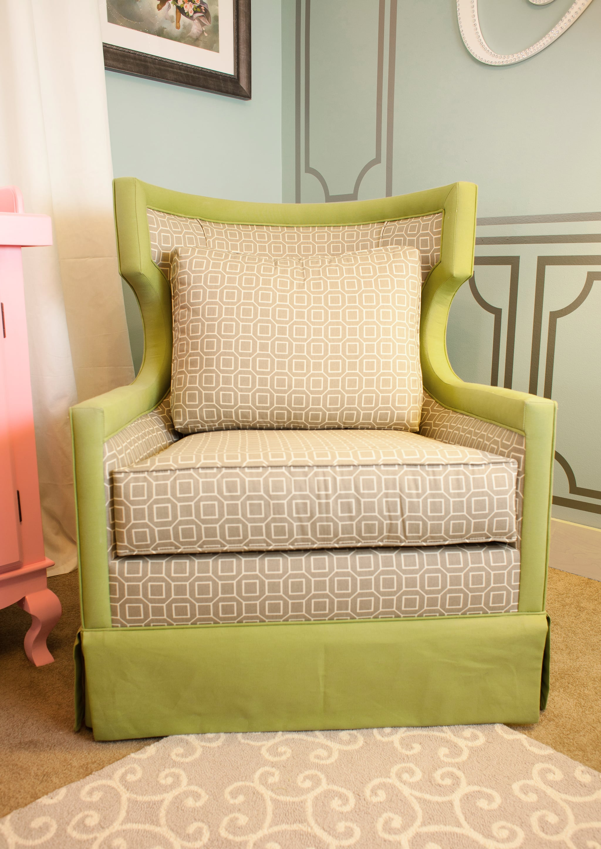 Glider and Ottoman by SPI Baby