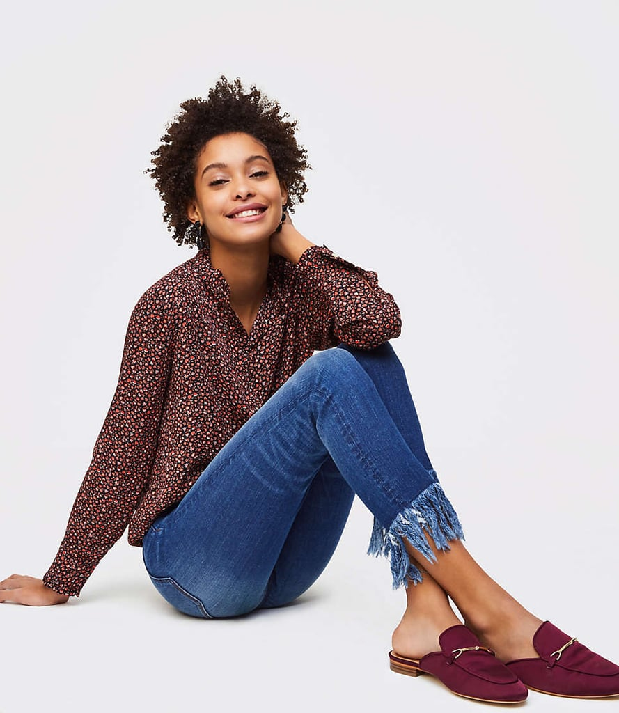 Loft Tall Modern Fringe Skinny Jeans