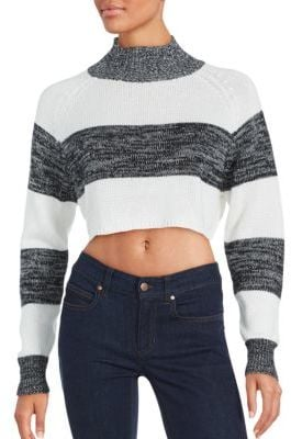 Evil Twin Cropped Long Sleeve Sweater