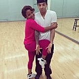 Christina Milian wrapped herself around her Dancing With the Stars partner, Mark Ballas. Source: Instagram user christinamilian