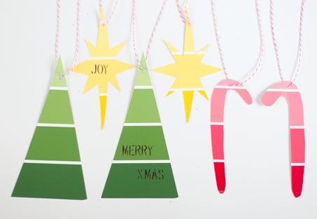 Make Paint-Chip Ornaments