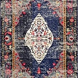 The nuLOOM Vintage Medallion Veronica Area Rug or Runner ($58-$274) oozes stylish vibes. The dark neutrals combined with pops of pink make it an ideal choice if you're looking to dip into color without going overboard.