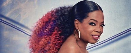 Oprah Rocked Purple Hair Because She Can Do No Wrong