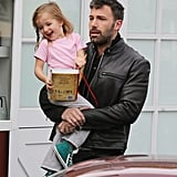 Ben Affleck carried daughter Seraphina in LA.