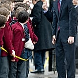 Prince Harry makes a face during his visit to the Mary Rose Museum in March.