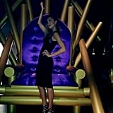 Jessica Alba posed near a giant throne at the Spike TV Video Game Awards. Source: Twitter user jessicaalba
