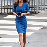 On Valentine's Day, She Stepped Out in a Blue LK Bennett Frock