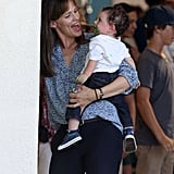 Jennifer Garner had a laugh with a baby on the set of Alexander and the Terrible, Horrible, No Good, Very Bad Day.