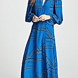 Ganni Sandwashed Silk Dress