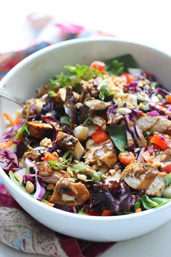 Chopped Spicy Chicken and Veggie Salad