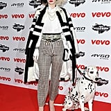 Iggy Azalea went all out for her Cruella de Vil costume at the 2013 VEVO Halloween showcase in London.