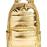 Bari Lynn Quilted Metallic Holographic Backpack