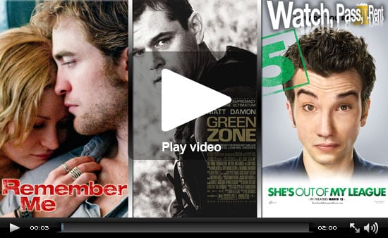 Watch, Pass or Rent Movie Reviews: Remember Me, Green Zone, and She's Out of My League!