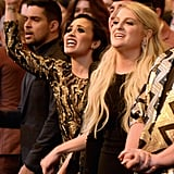 Demi Lovato and Meghan Trainor Rocking Out