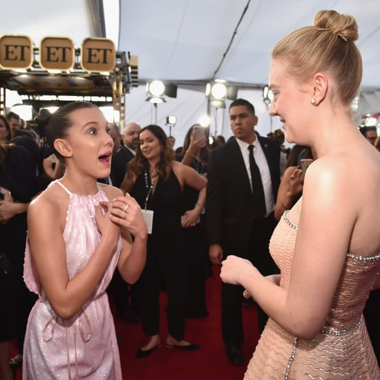 Millie Bobby Brown and Dakota Fanning SAG Awards 2018