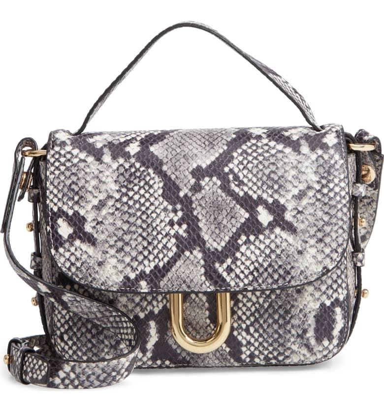 J.Crew Harper Snake Embossed Leather Crossbody Bag