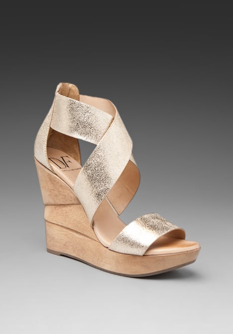 The metallic finish gives this pair of wedges the touch of glam they need to finish off your pretty party dresses.  Diane von Furstenberg Opal Wedges ($295)