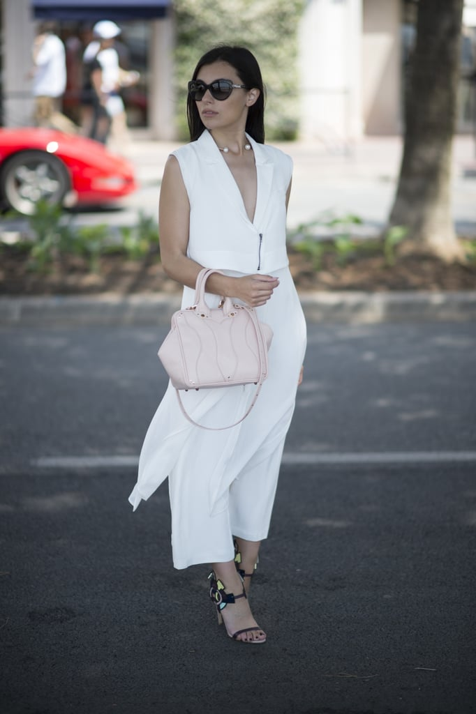 Head-to-toe white is the way to go once the temperatures start to rise.