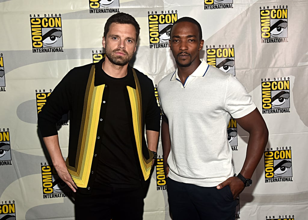 Pictured: Sebastian Stan and Anthony Mackie at San Diego Comic-Con.