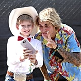 Mason Ramsey and Justin Bieber posed for a cute selfie in 2018.
