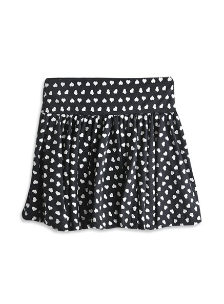 The cut of this cute Heart Print Swing Skirt ($20) is chic enough that Mama would wear it!