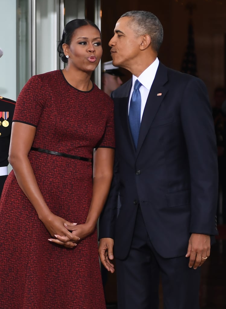 Michelle Obama Red Dress at Inauguration 2017 | POPSUGAR Fashion