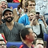 Kirsten Dunst cheered for the game.