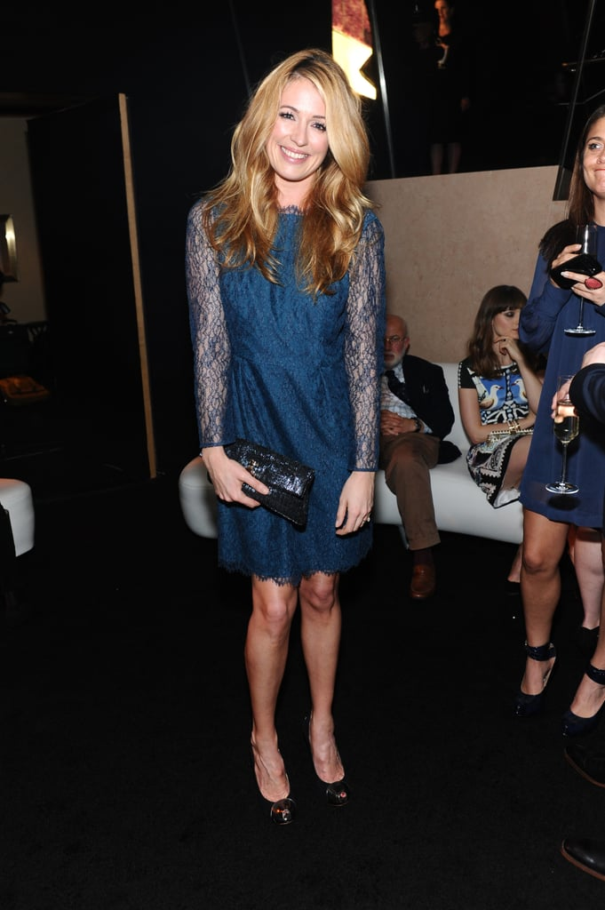Cat Deeley wore a lace dress.