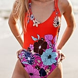 Out From Under Casey Printed Strappy Back One-Piece Swimsuit