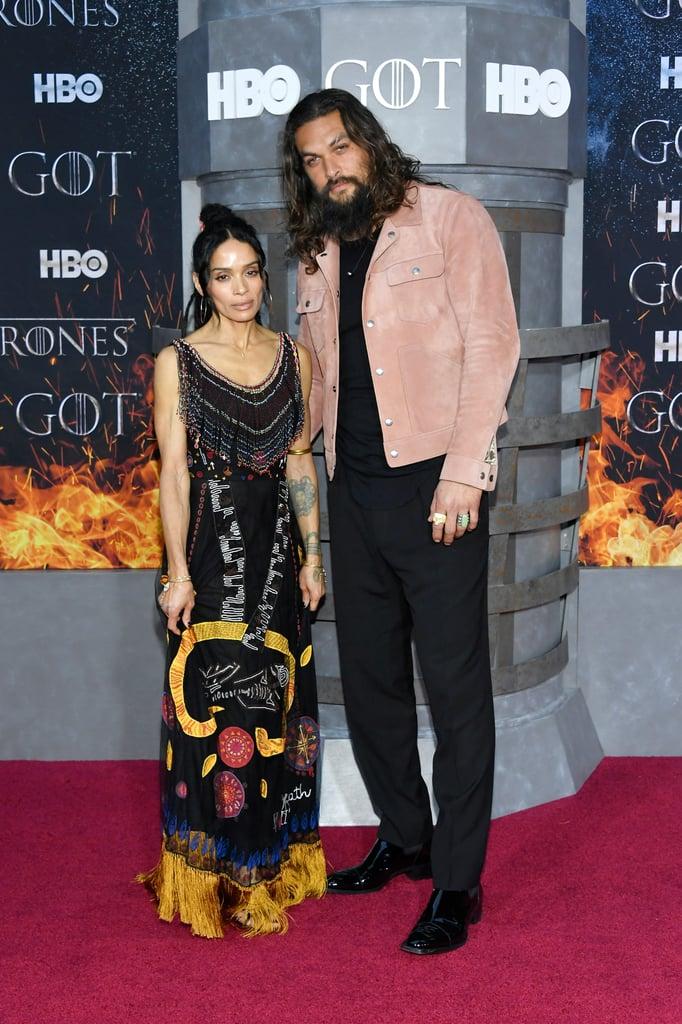 Jason Momoa And Lisa Bonet At Game Of Thrones Premiere 2019 Popsugar Celebrity