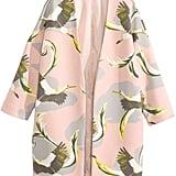Bird-Print Short Coat