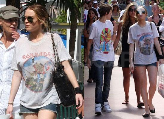 Photos of Lindsay Lohan and Samantha Ronson in Miami