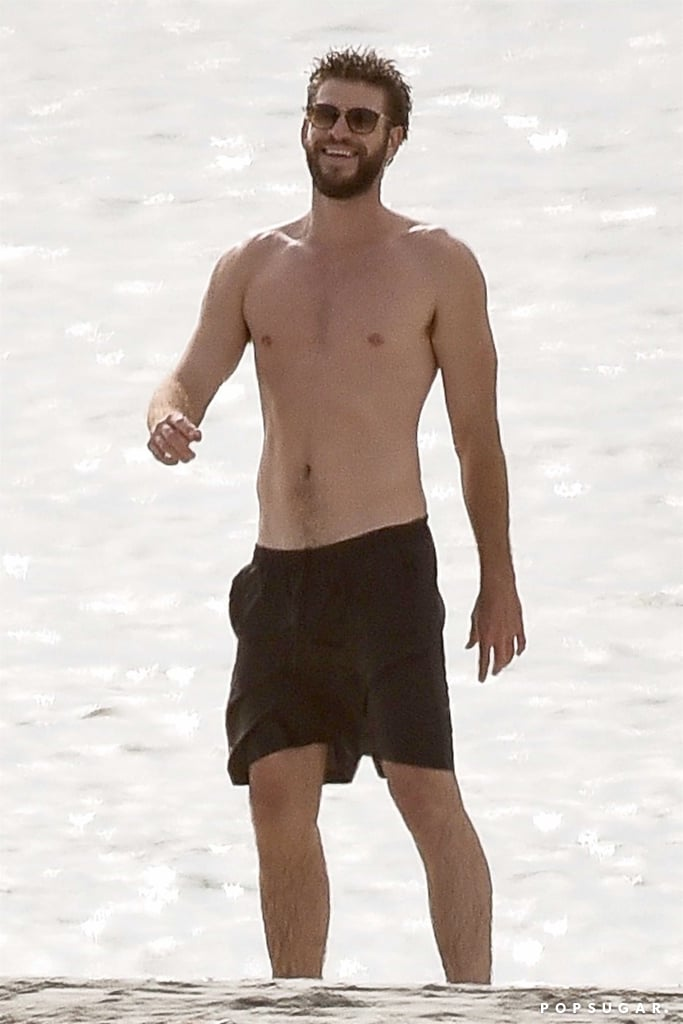 A Shirtless Liam Hemsworth Returns to the Place Where He and Miley Cyrus First Met