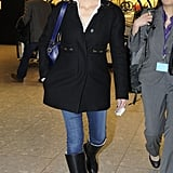 Jennifer Garner traveled out of London's Heathrow Airport.