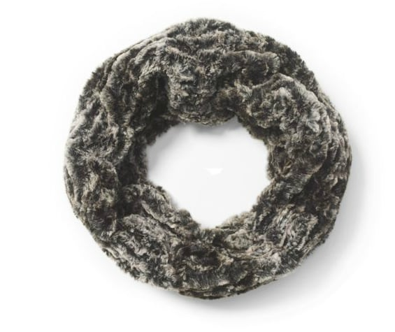 Words that come to mind when we see this Club Monaco Infinity Scarf ($90): sumptuous, gorgeous, stylish, festive, and must have.