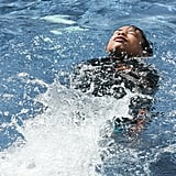 If your child can't swim at all, the first thing to teach them is how to float.