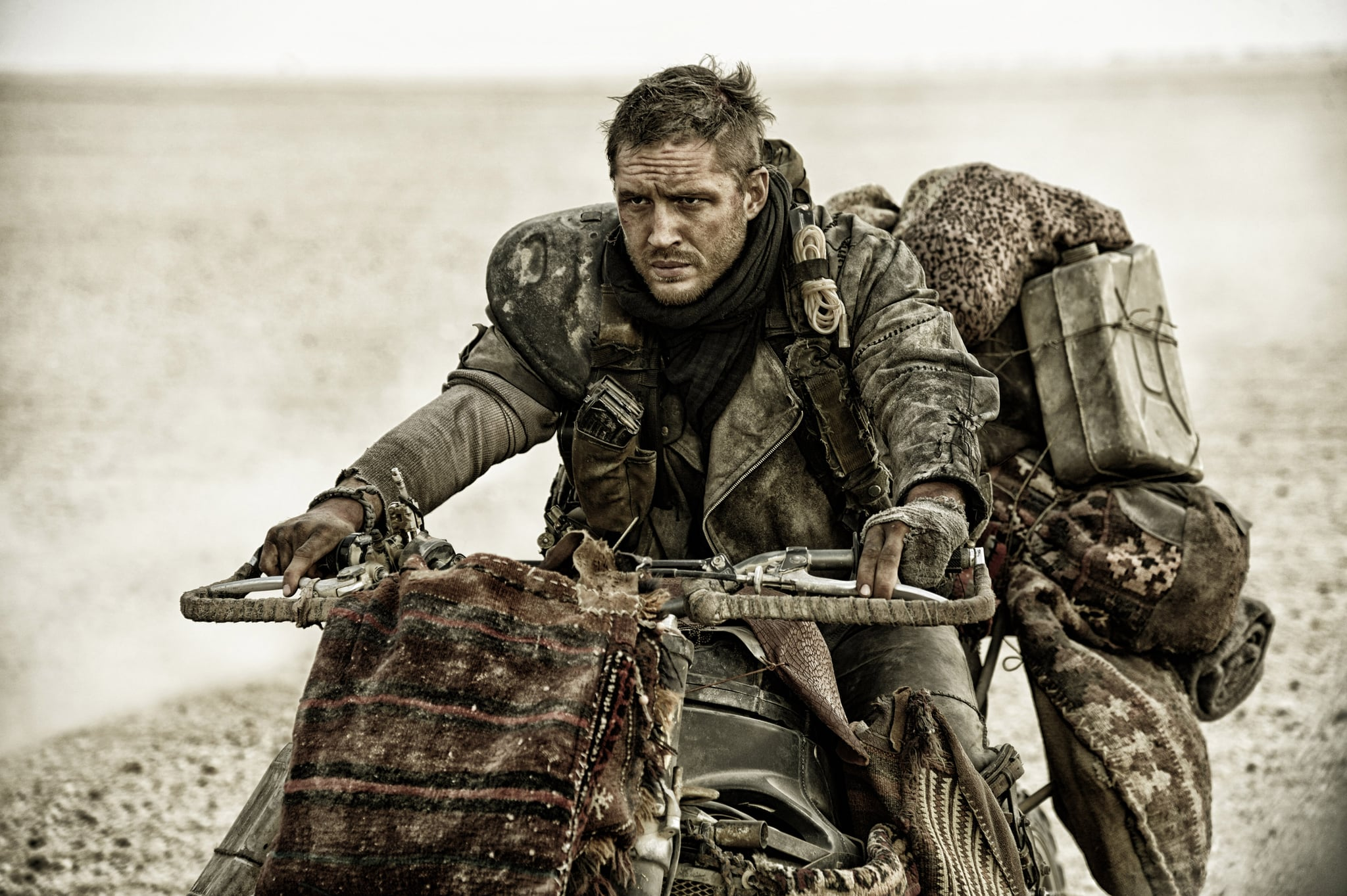 MAD MAX: FURY ROAD, Tom Hardy, 2015. ph: Jasin Boland/Warner Bros. Pictures/courtesy Everett Collection