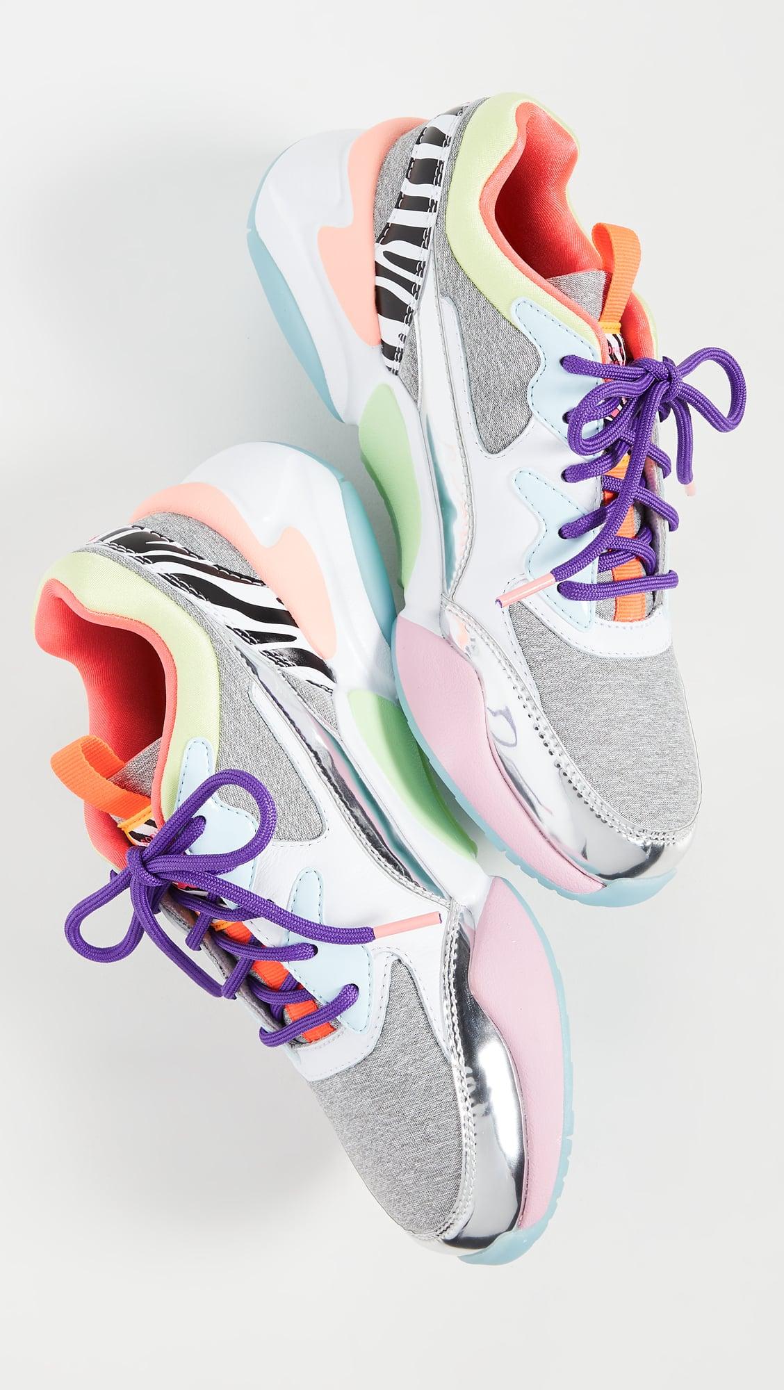 unique white sneakers