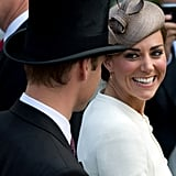 Kate Middleton gave Prince William a loving look during the Epsom Derby in June 2011.